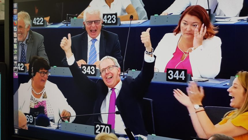Axel Voss is very enthusiastic about a positive vote for his copyright directive in 2018.